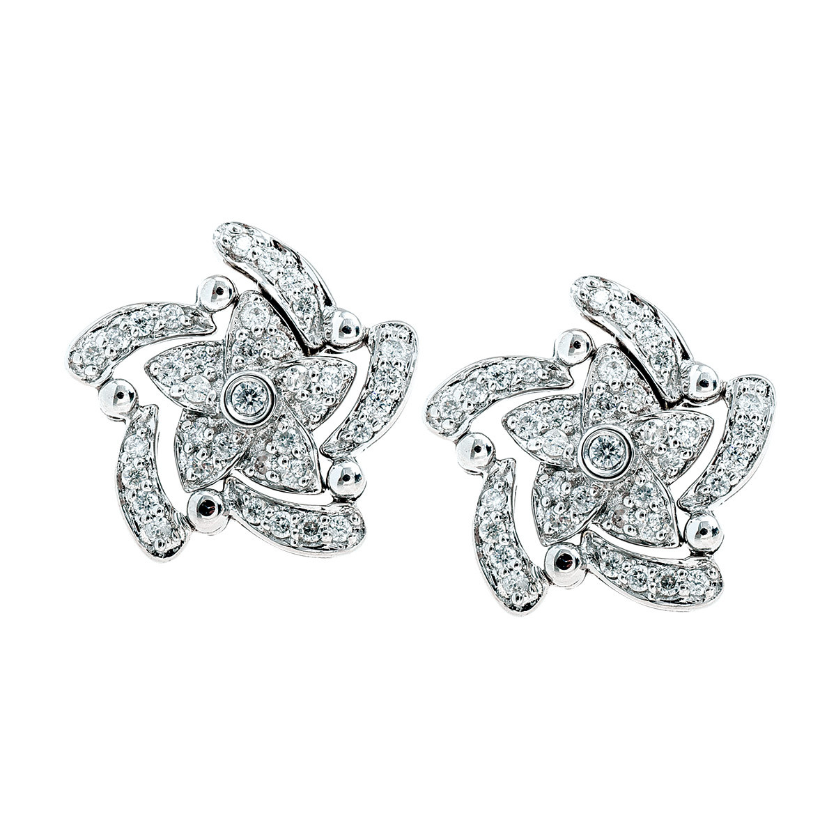 Vintage 0.32 CTW Diamond Star Earrings