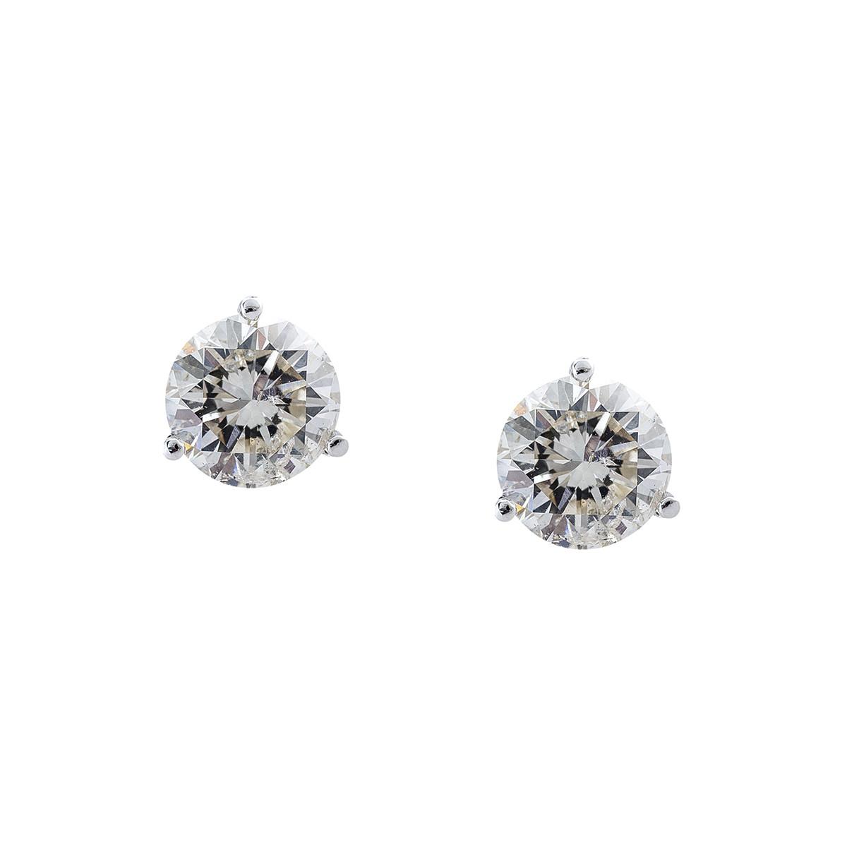 New 2.35 CTW Diamond Stud Earrings
