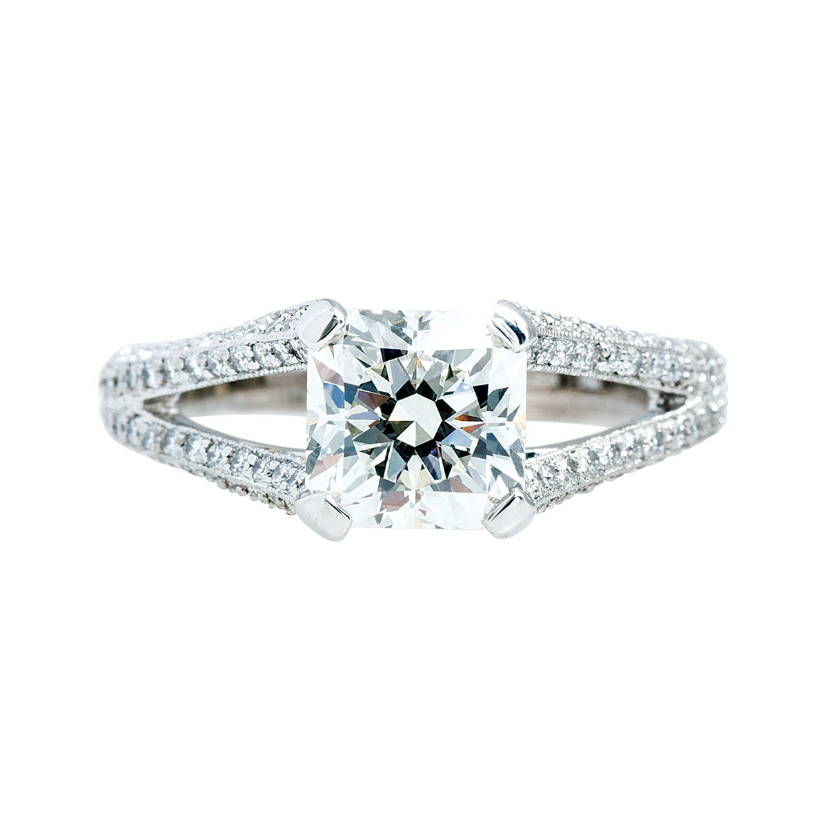 Vintage Hearts On Fire® 2.762 CTW Diamond Intrigue Engagement Ring