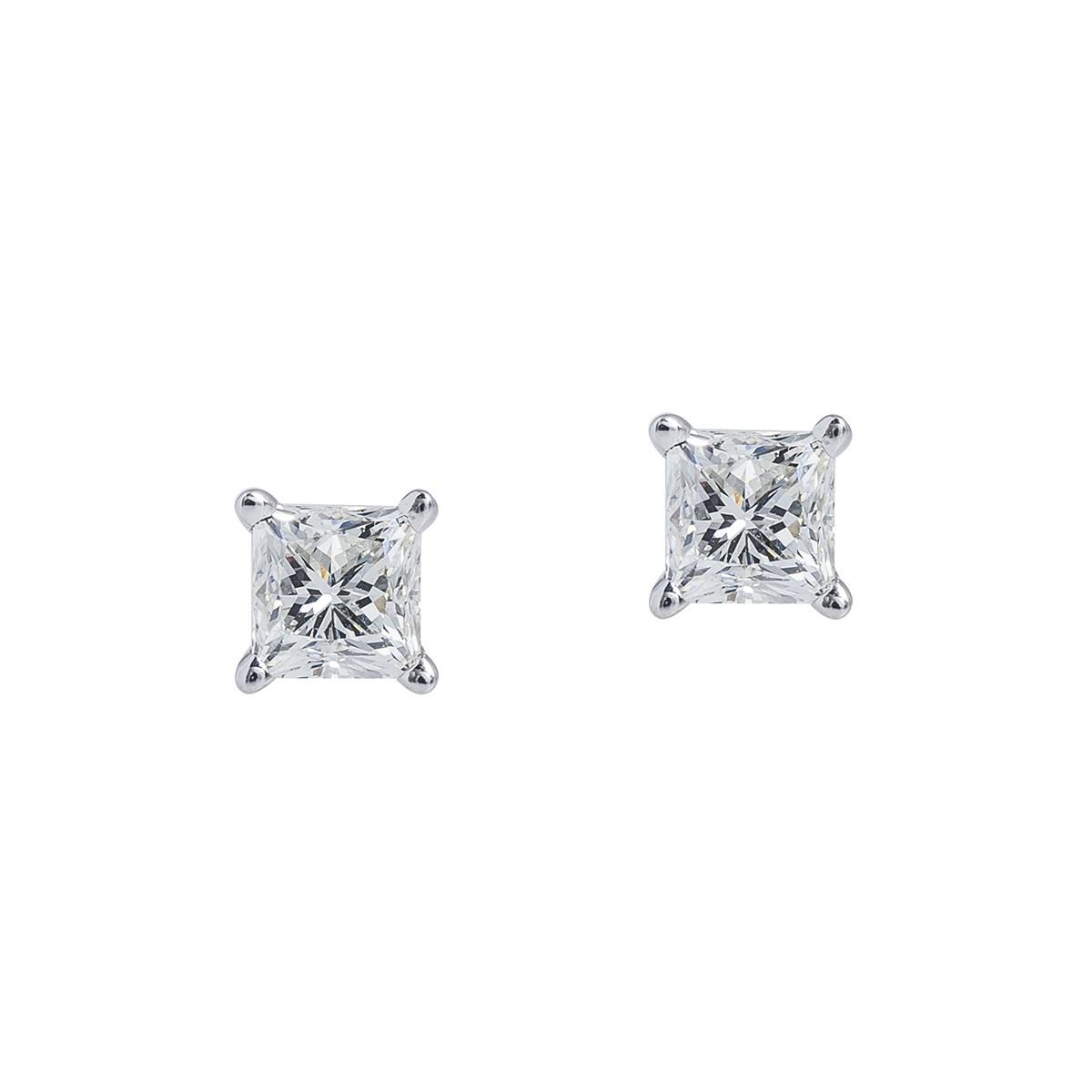 New 1.00 CTW Diamond Stud Earrings