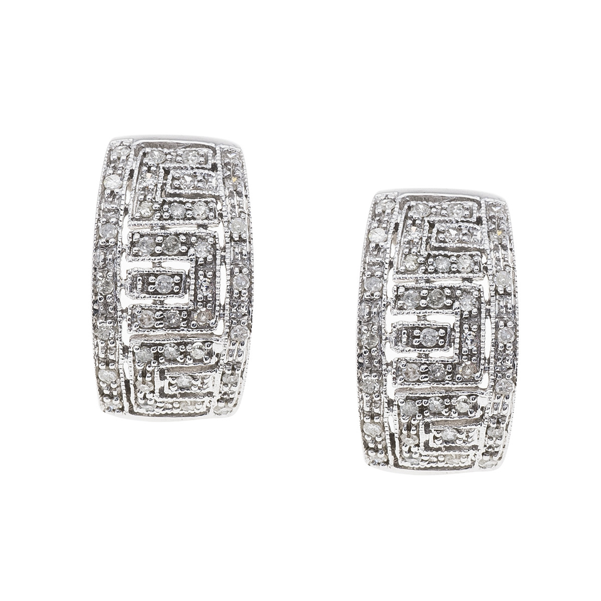 Vintage 0.36 CTW Diamond Geometric Earrings