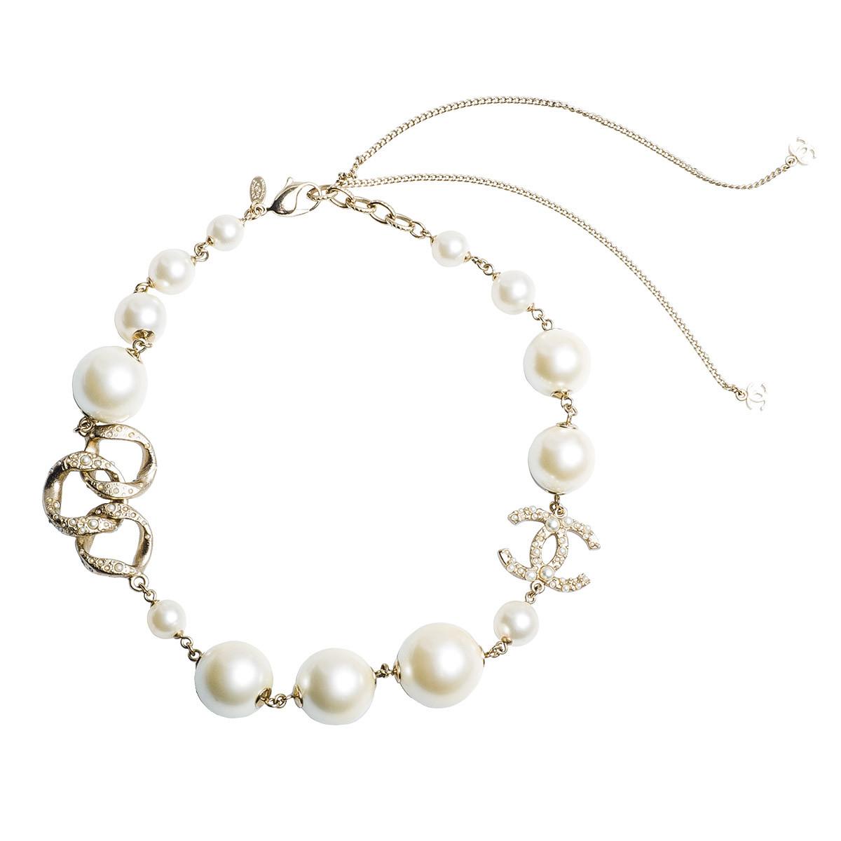 Vintage Chanel Large Faux Pearl Necklace