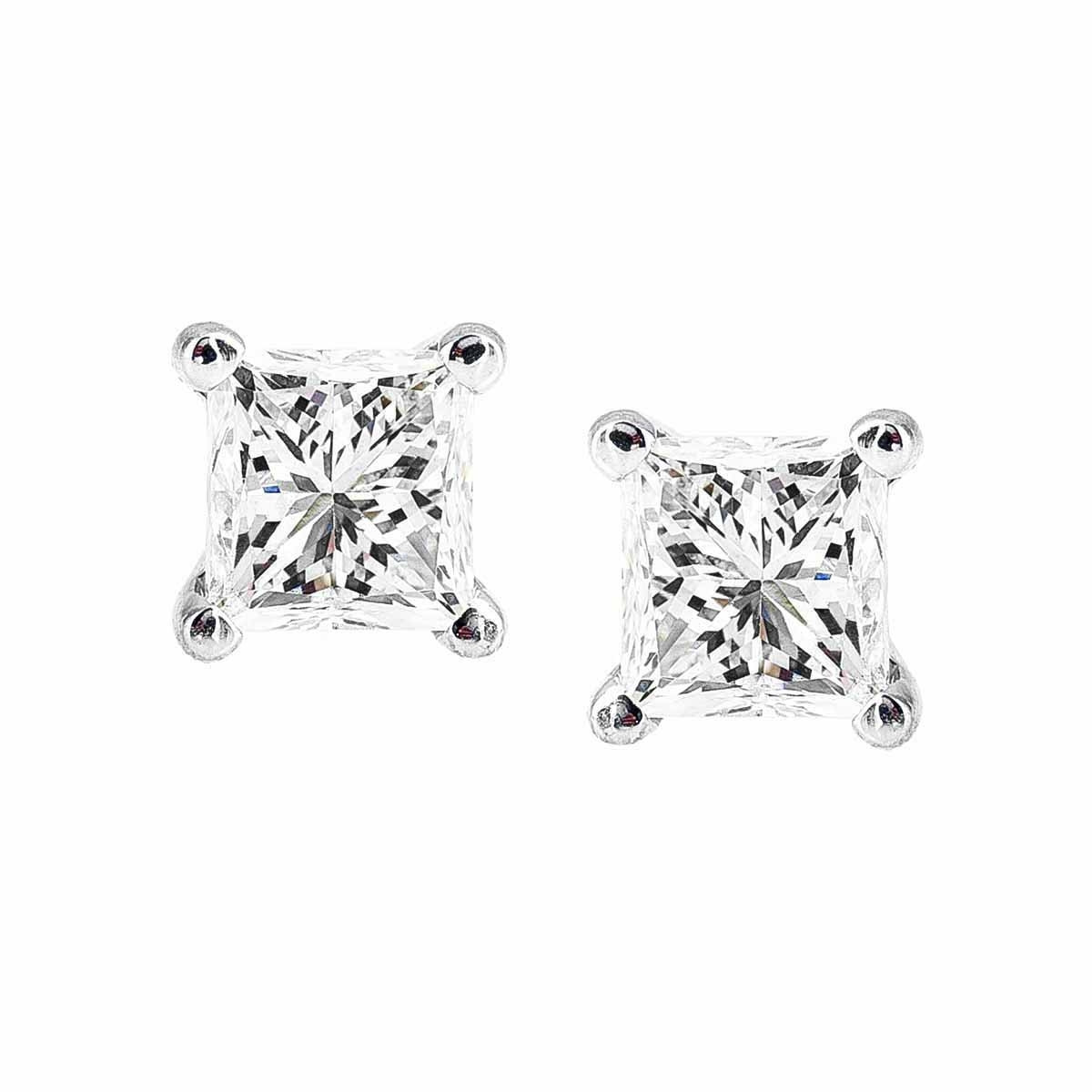 New 1.00 CTW Diamond Stud Earrings
