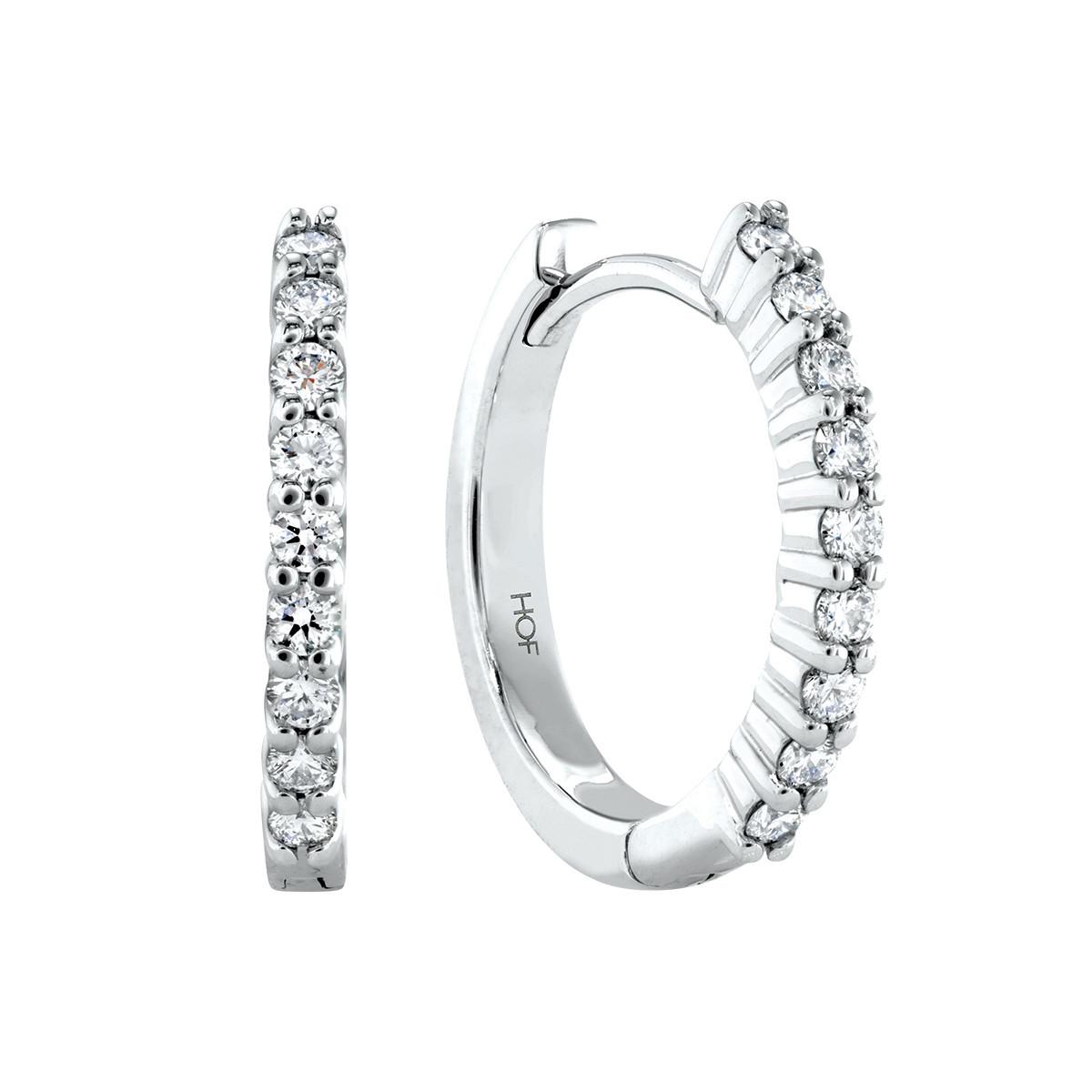 Vintage Hearts On Fire® 0.27 CTW Diamond Mini Hoop Earrings