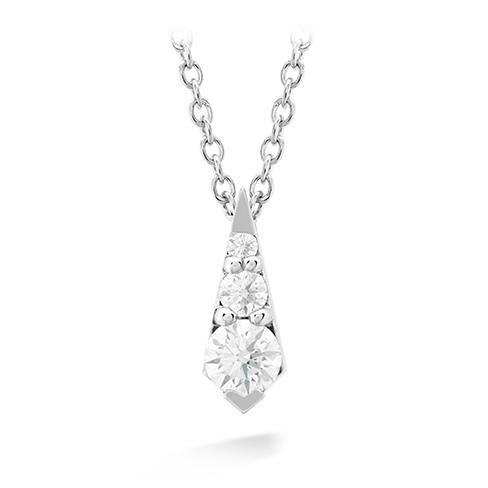 New Hearts On Fire® 0.21 CTW Diamond Graduating Triplicity Drop Necklace