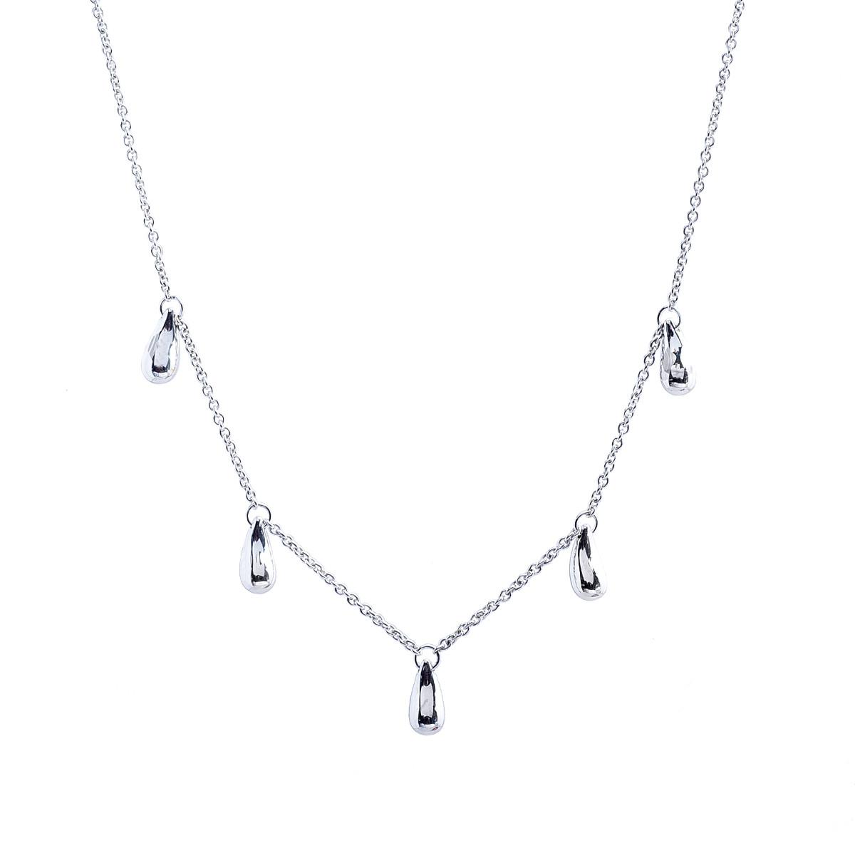 8d17302cc Vintage Tiffany & Co. Elsa Peretti Five Teardrop Necklace Gallery Image