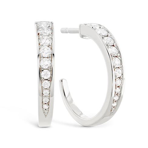 New Hearts On Fire® 0.44 CTW Diamond Triplicity Hoop Earrings