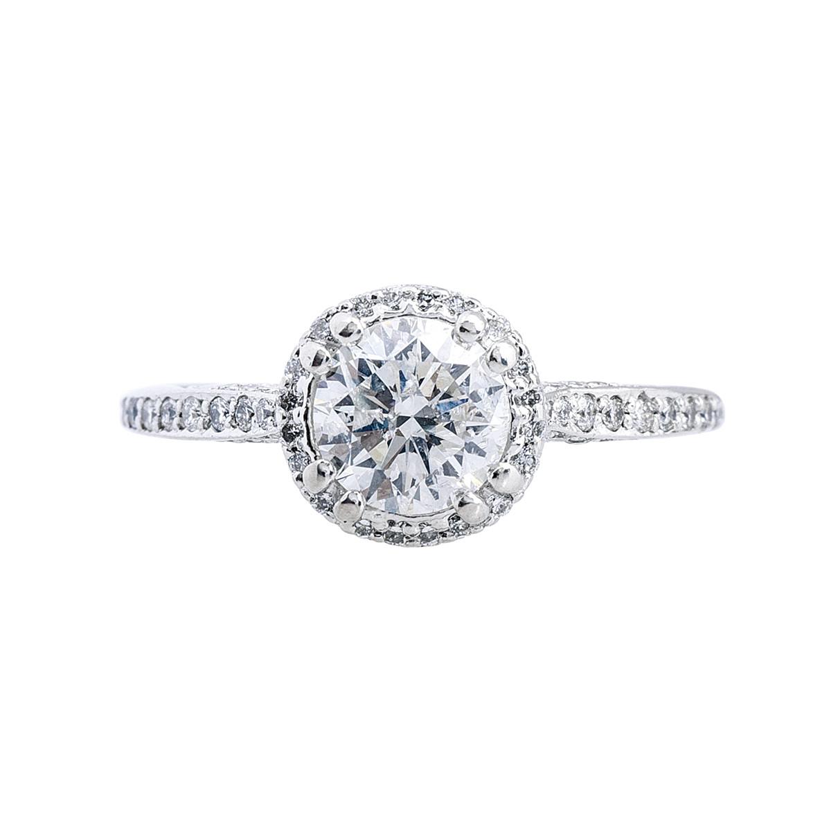 vintage tacori dantela 1 15 ctw halo engagement ring