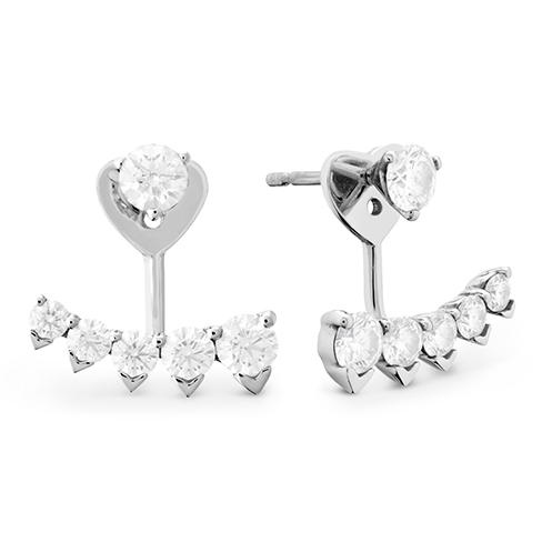 New Hearts On Fire 1 44 Ctw Diamond Studs Trend Pointed Earring Jackets Gallery Image