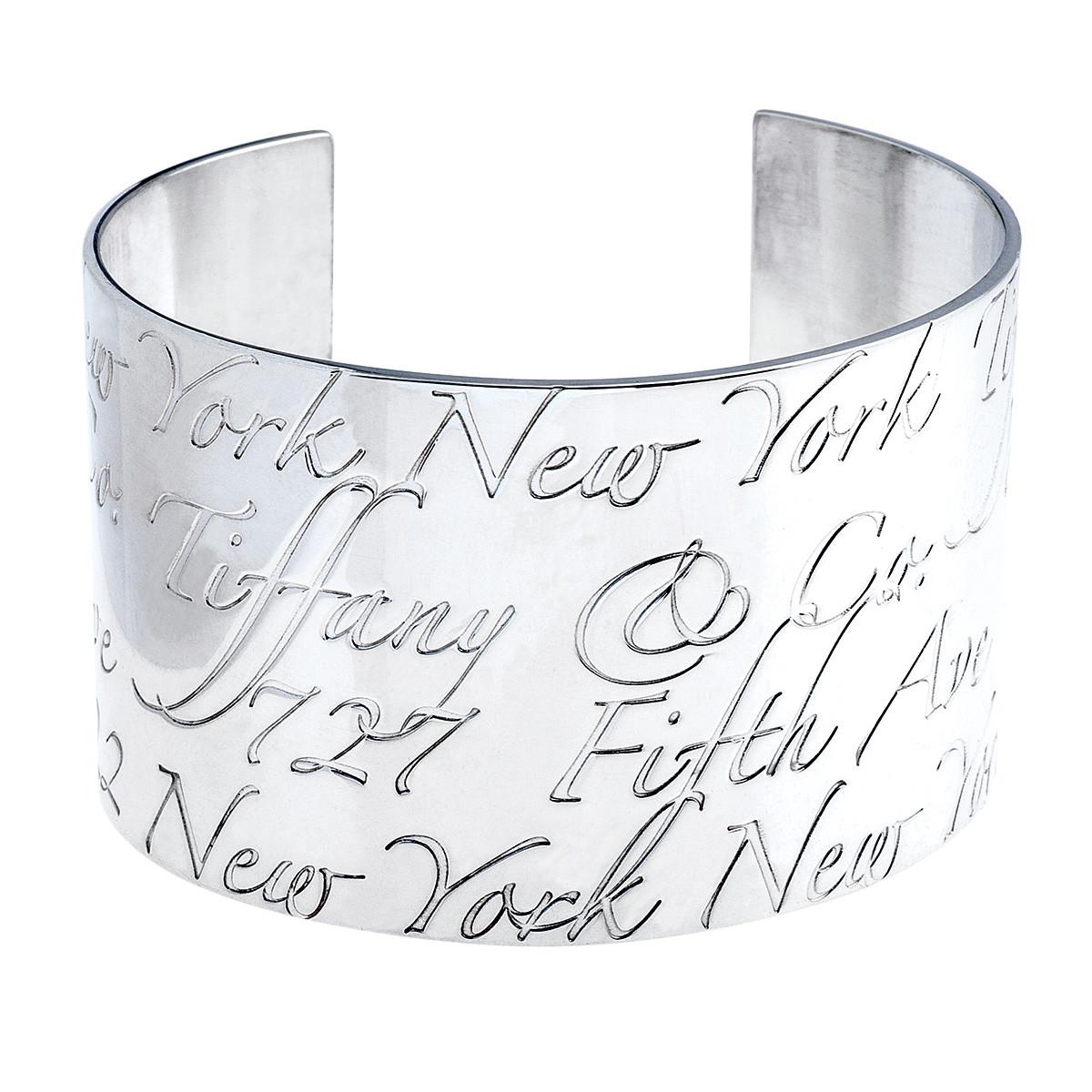 dd47effcc6979 Vintage Tiffany & Co. Notes Wide Cuff Bracelet