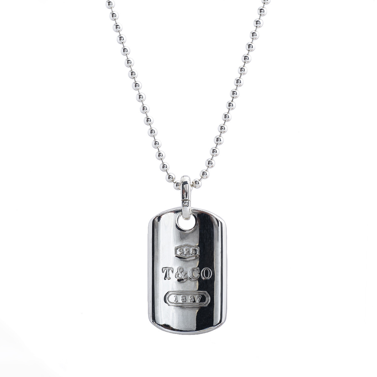 d7531c8aa Vintage Tiffany & Co. 1837 Dog Tag Necklace Gallery Image