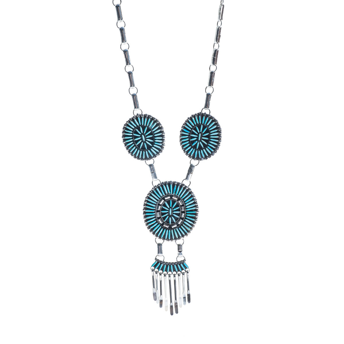 native necklace handmade american silver turquoise product coral