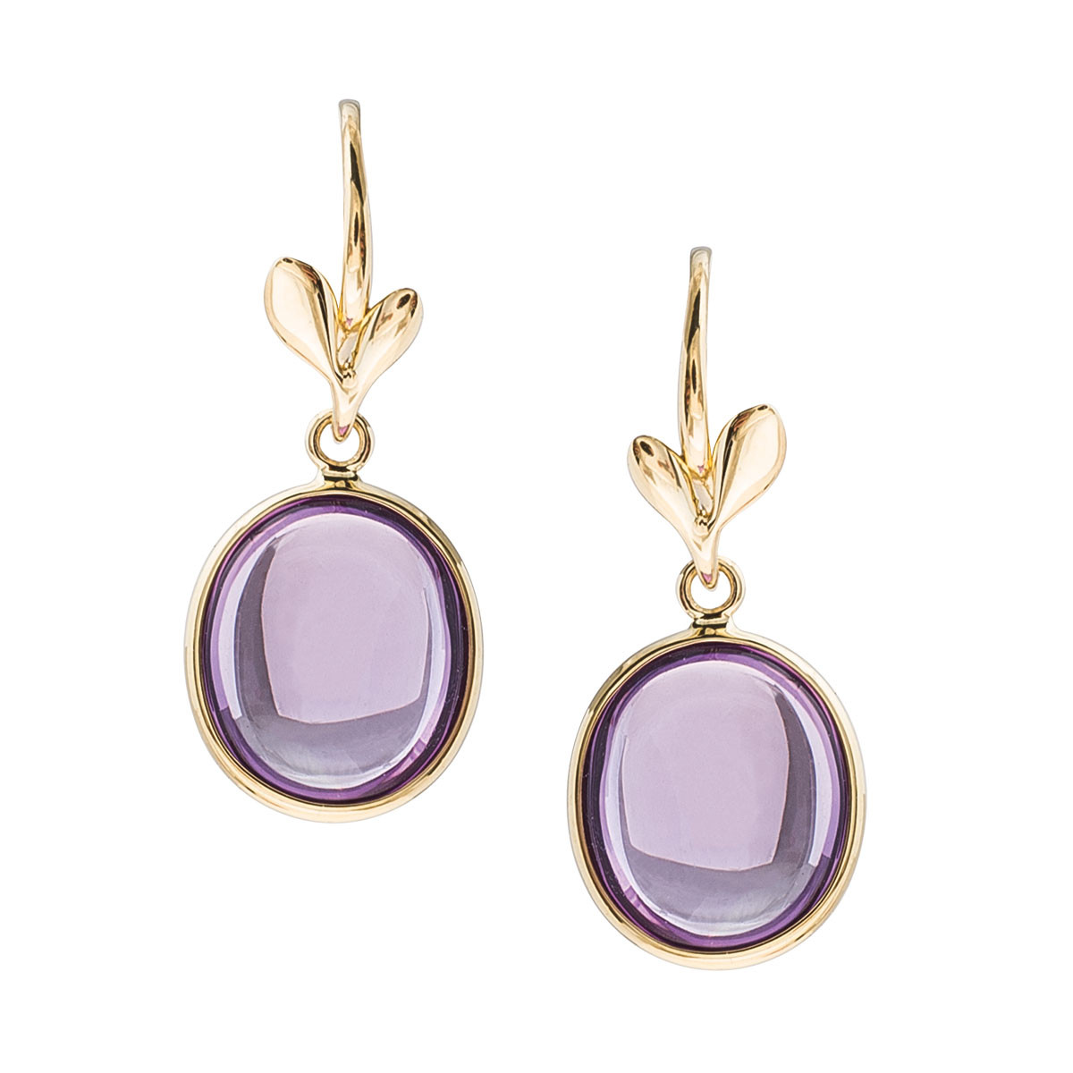 92813ab16 Vintage Tiffany & Co. Paloma Picasso Olive Leaf Amethyst Drop Earrings  Gallery Image