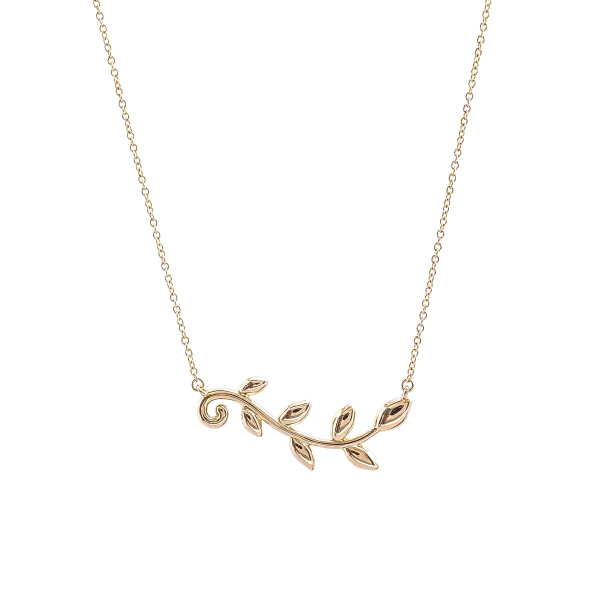 91ea34c35 Vintage Tiffany & Co. Paloma Picasso Olive Leaf Necklace Gallery Image