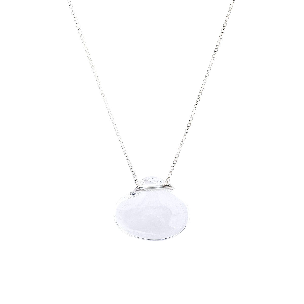 Elsa Peretti Cat Island isle shell pendant of rock crystal in sterling silver Tiffany & Co. Cf22v