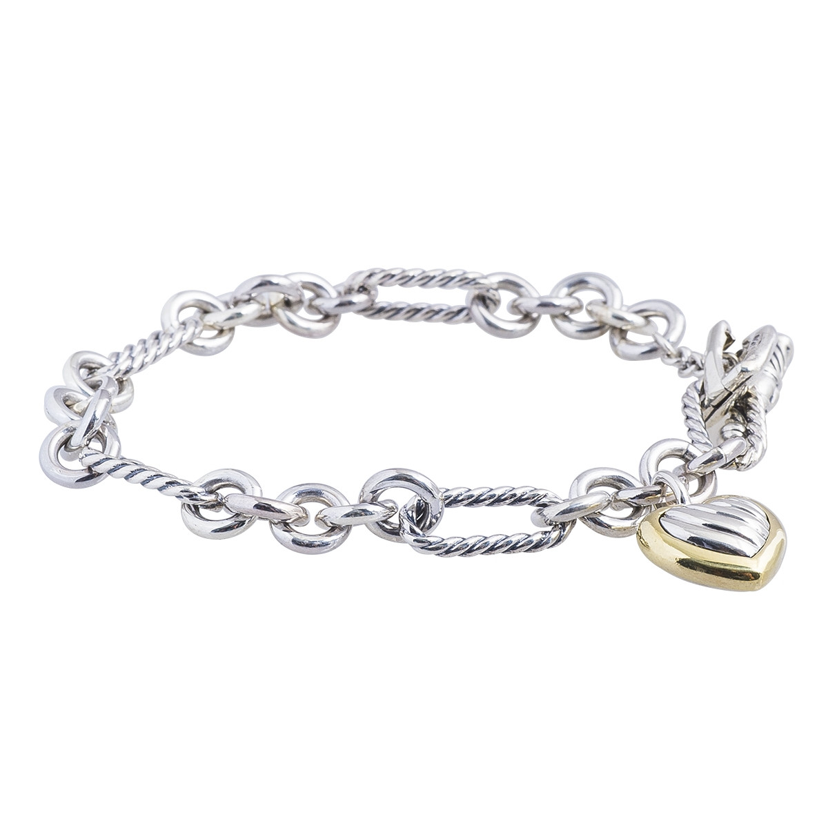 Vintage David Yurman Cable Heart Toggle Bracelet Gallery Image