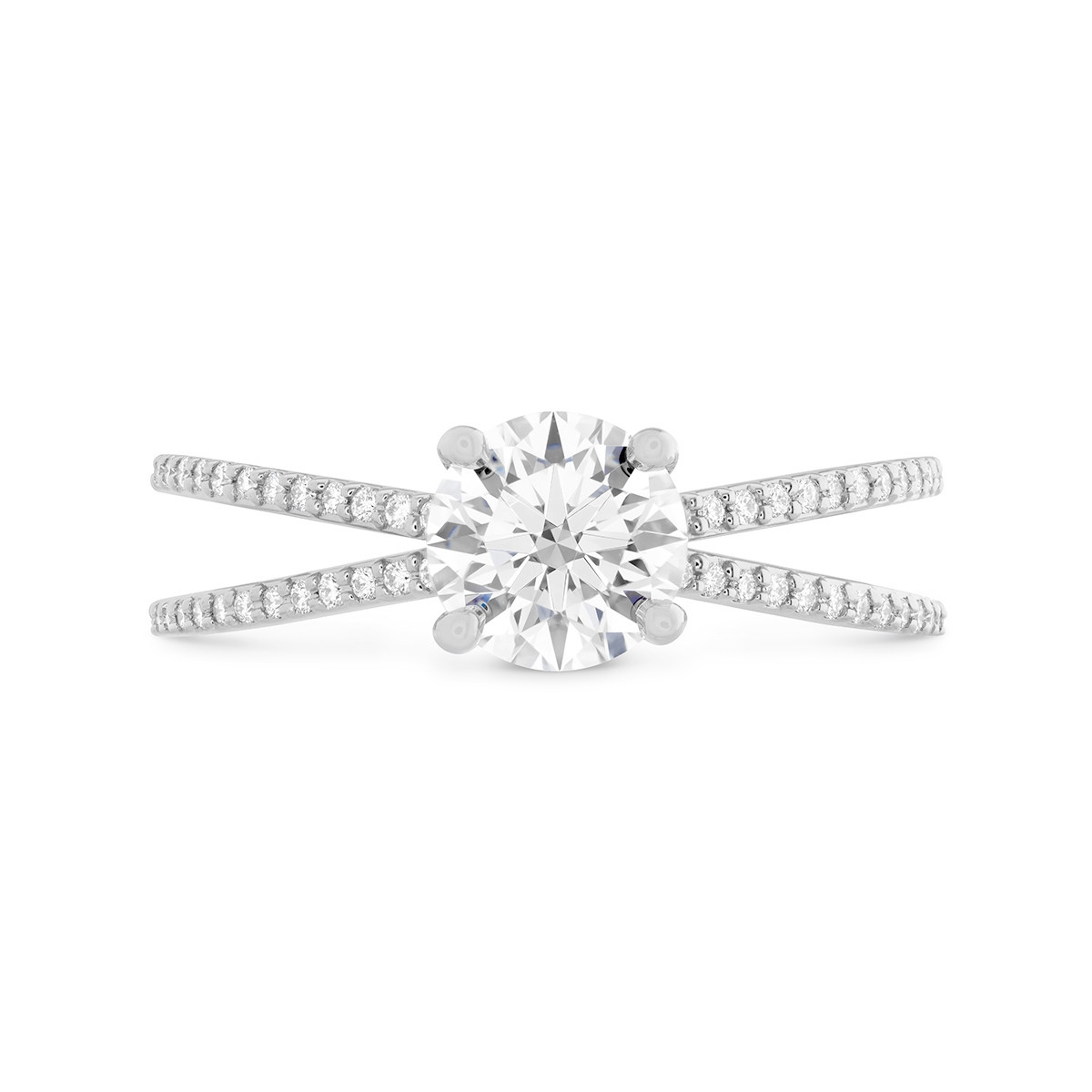 New Hearts On Fire® 0.14 CTW Diamond Camilla Engagement Ring