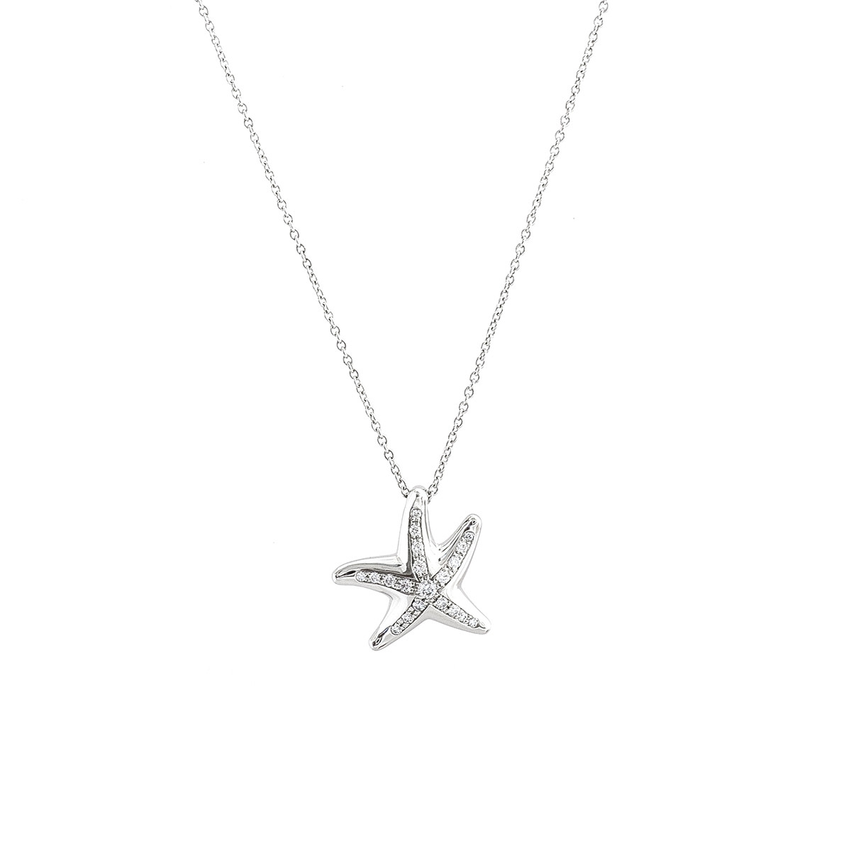 74ef5401b Vintage Tiffany & Co. Elsa Peretti 0.13 CTW Diamond Starfish ...