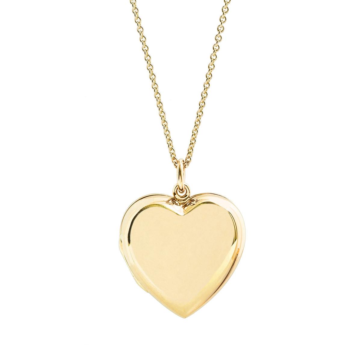 fd473c2bf Vintage Tiffany & Co. Heart Locket Necklace Gallery Image