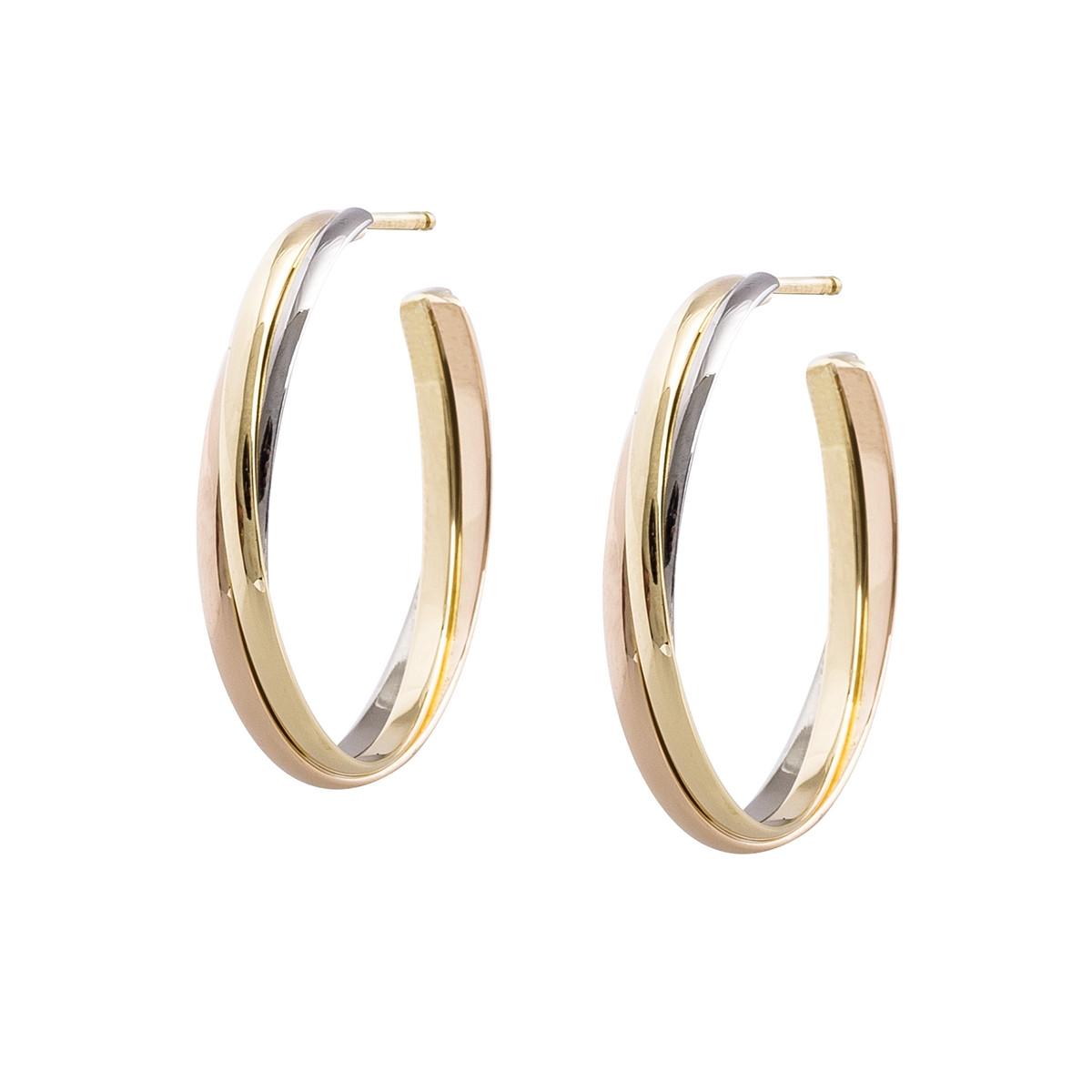 Vintage Cartier Trinity Hoop Earrings Gallery Image