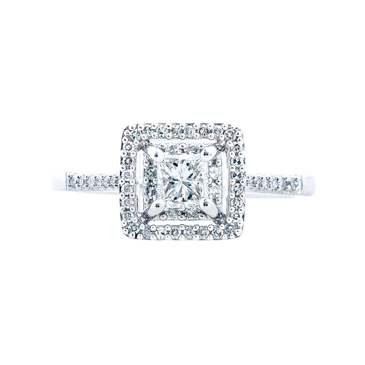 New 0.60 CTW Diamond Halo Engagement Ring