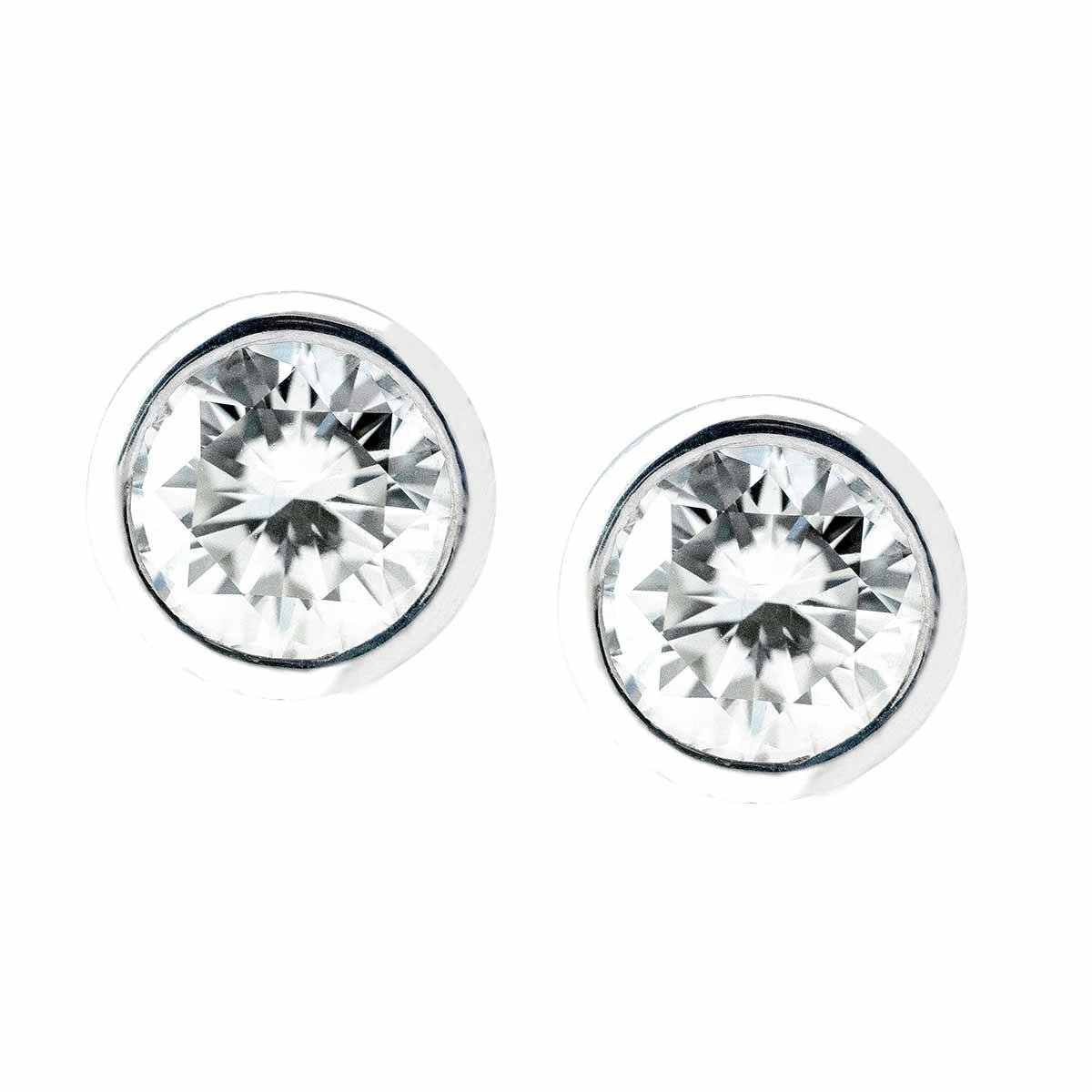New 1.18 CTW Diamond Stud Earrings