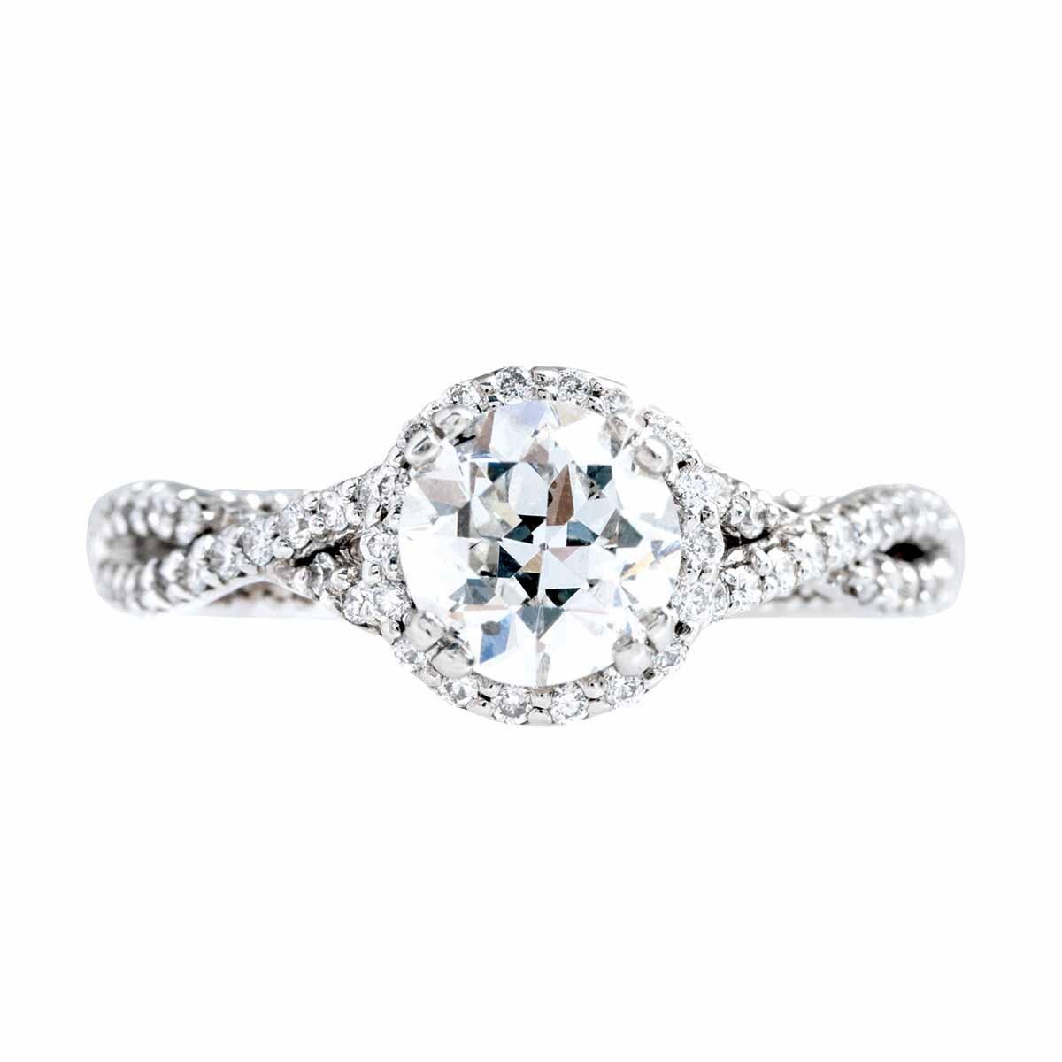 Vintage Verragio 1.21 CTW Diamond Parisian Collection Engagement Ring
