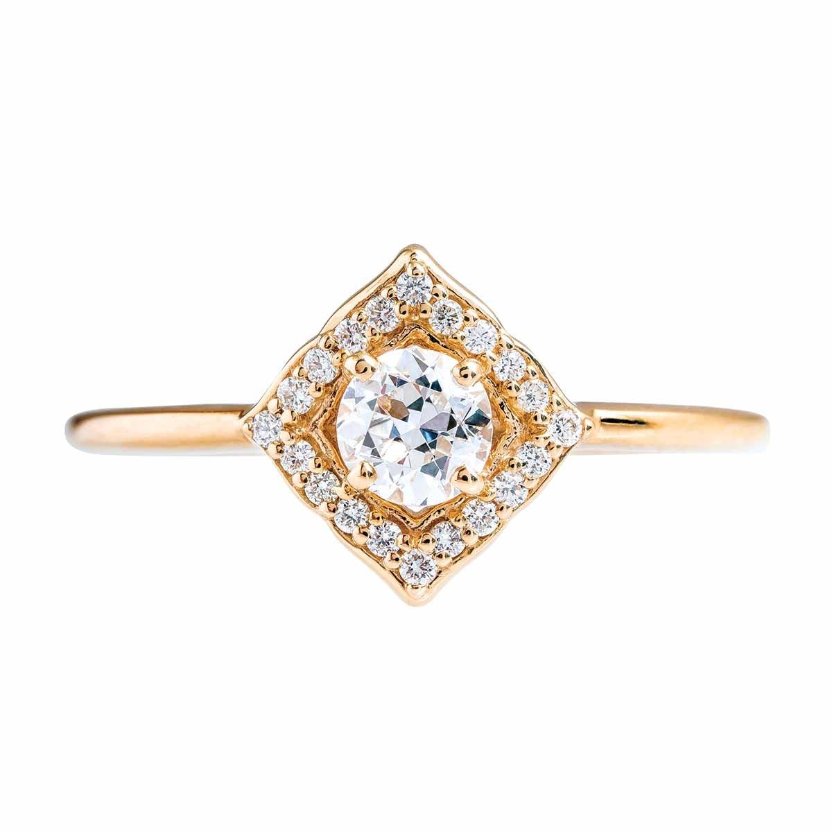 New 0.45 CTW Diamond Clover Ring