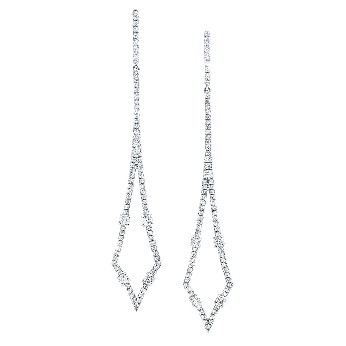 New 0.99 CTW Diamond Drop Earrings