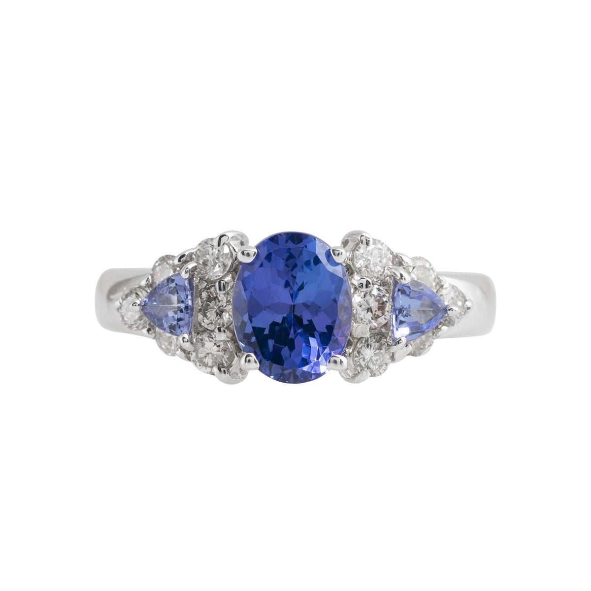 Vintage Le Vian 3.70 CTW Tanzanite & Diamond Ring