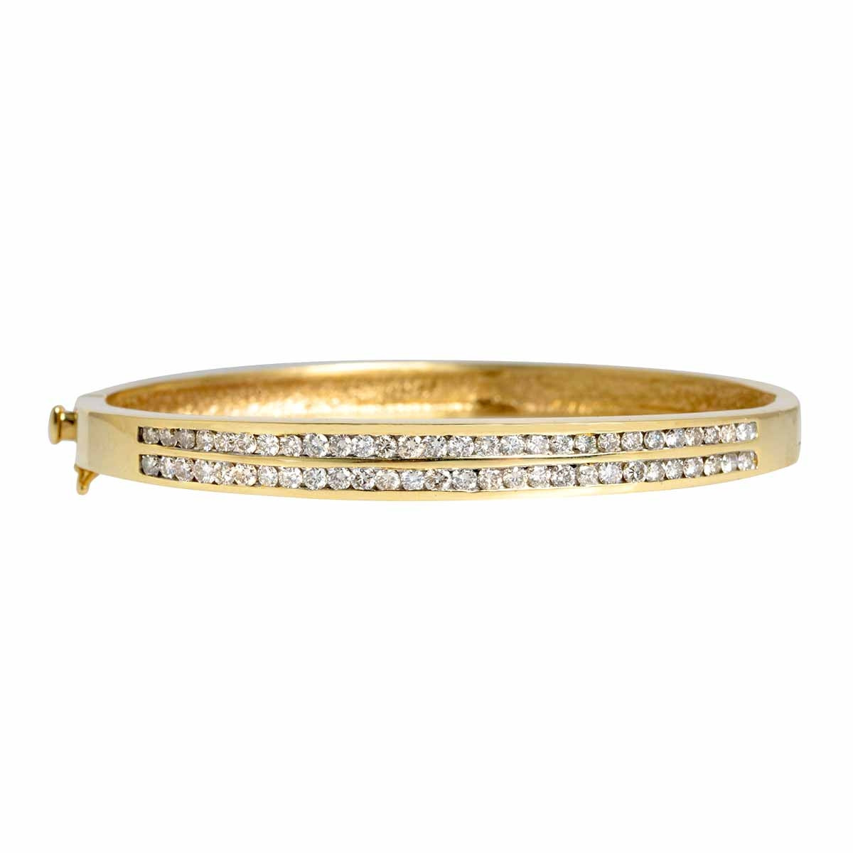 Vintage 1.10 CTW Diamond Bangle Bracelet