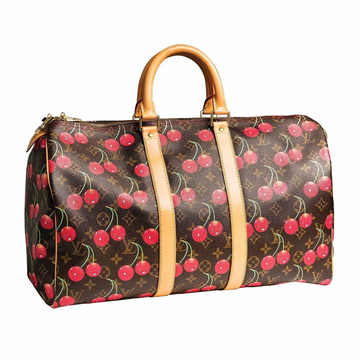 30a8861eb183 Vintage Louis Vuitton Cherry Limited Edition Murukami Cerise Keepall Travel  Duffle Bag Gallery Image