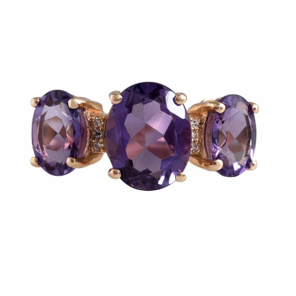 Vintage Lali 2.75 CTW Amethyst & Diamond Ring
