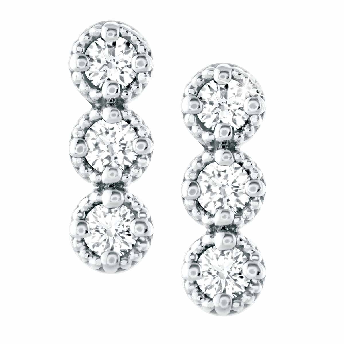 New Hearts On Fire® 0.19 CTW Diamond Liliana Bar Earrings