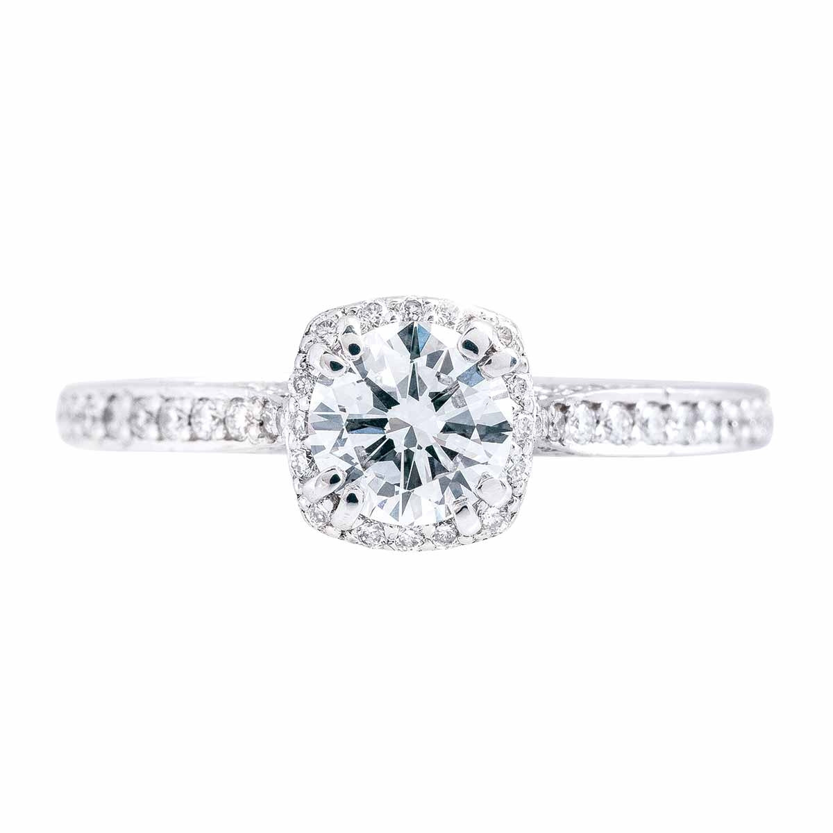 Vintage Tacori 0.87 CTW Diamond Dantela Engagement Ring