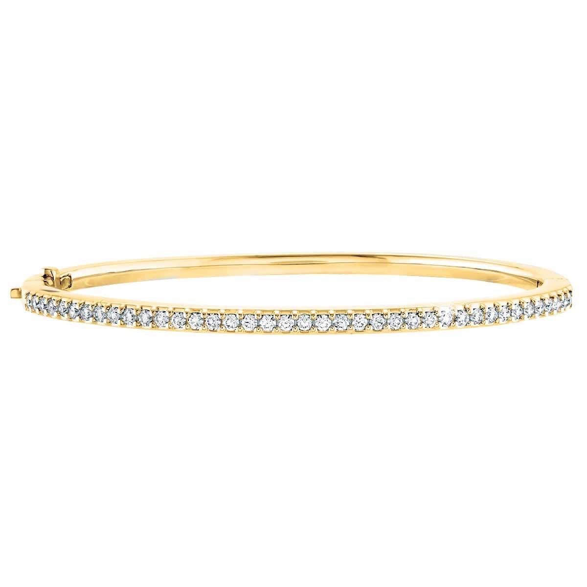 New Hearts On Fire® 0.77 CTW Diamond Bangle Bracelet