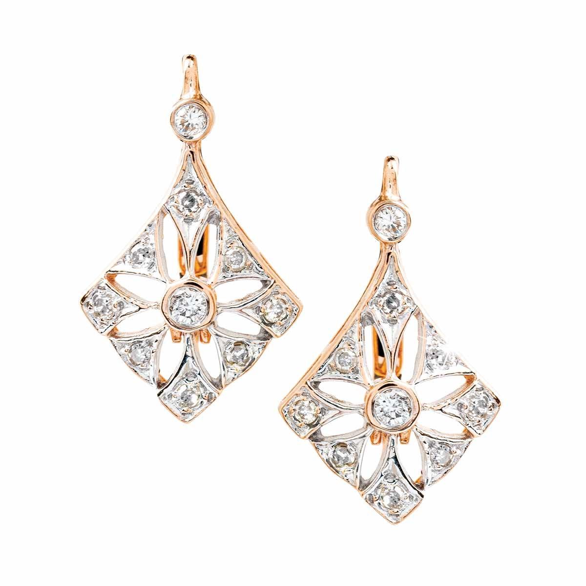 Vintage 0.46 CTW Diamond Kite Earrings