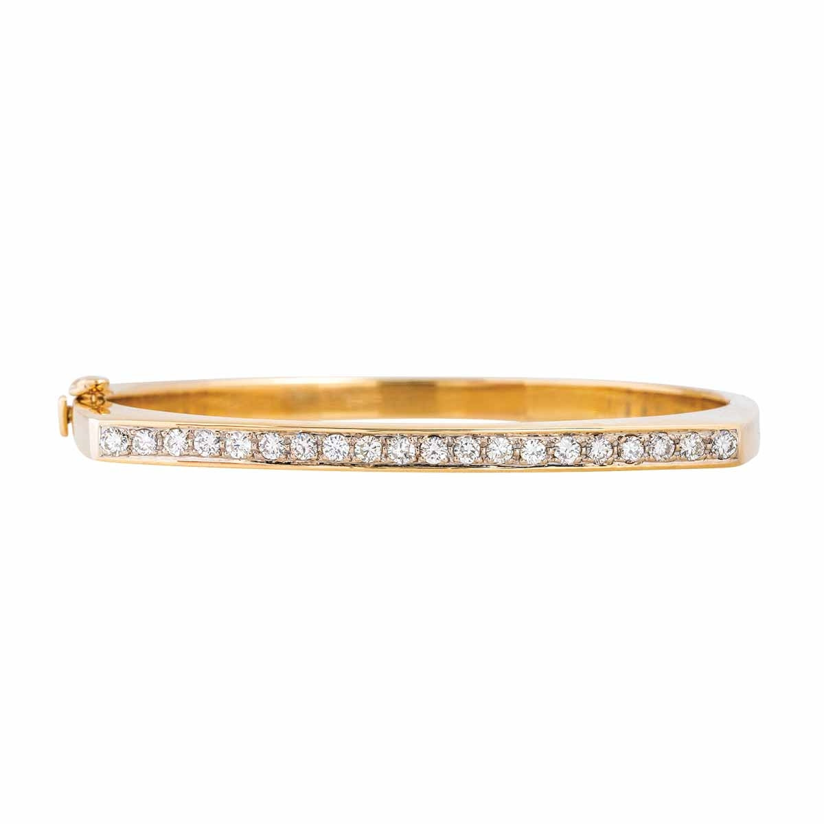 Vintage 1.00 CTW Diamond Bangle Bracelet