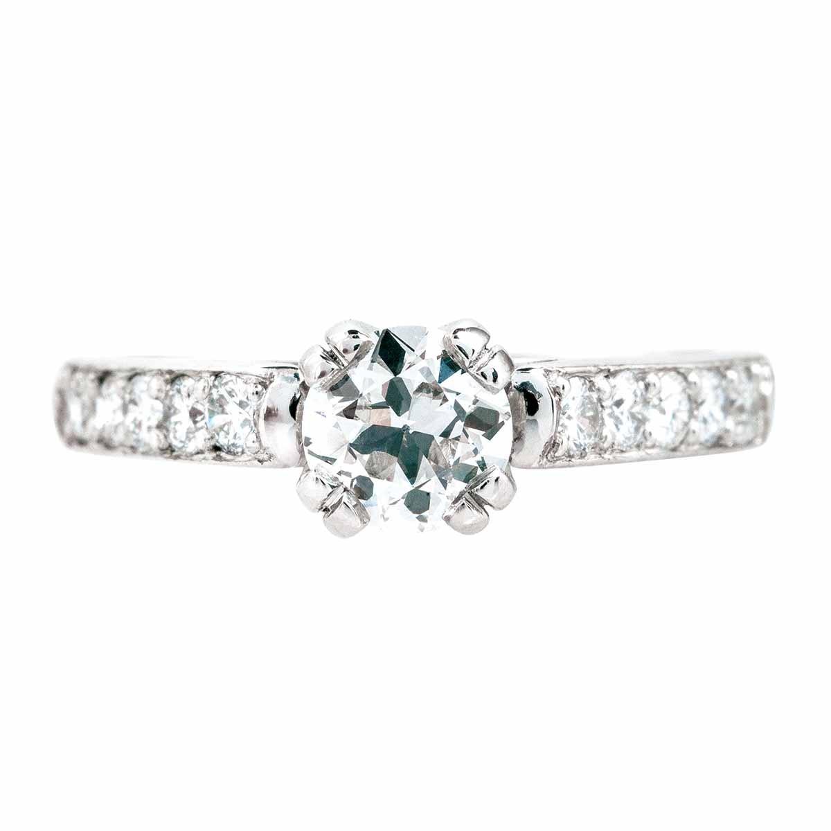 Vintage 1.01 CTW Diamond Engagement Ring