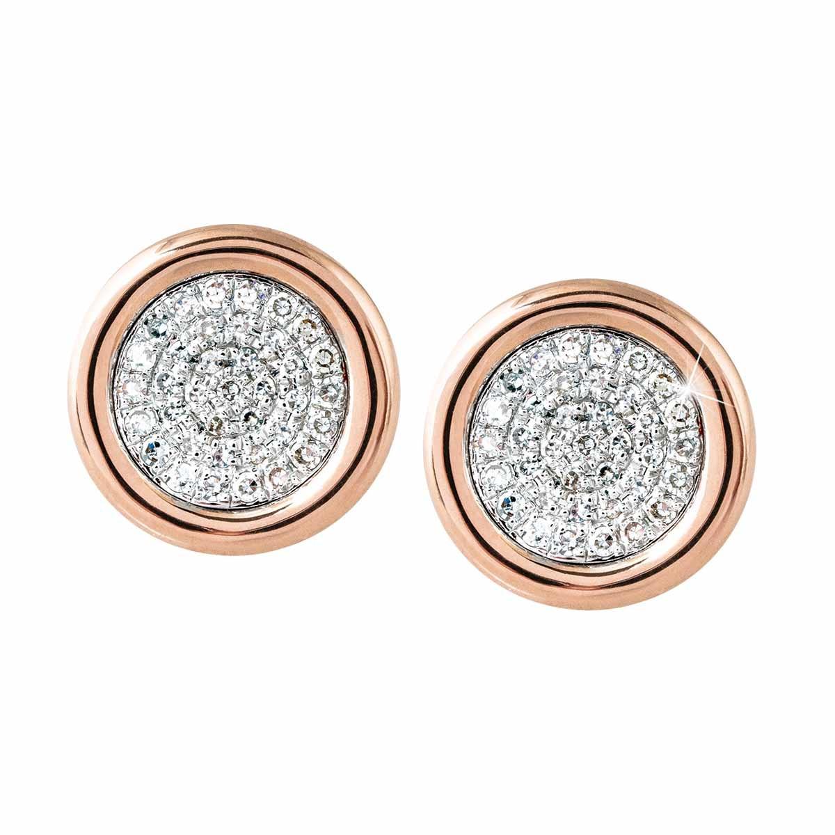 New Madison L 0.20 CTW Diamond Disc Stud Earrings