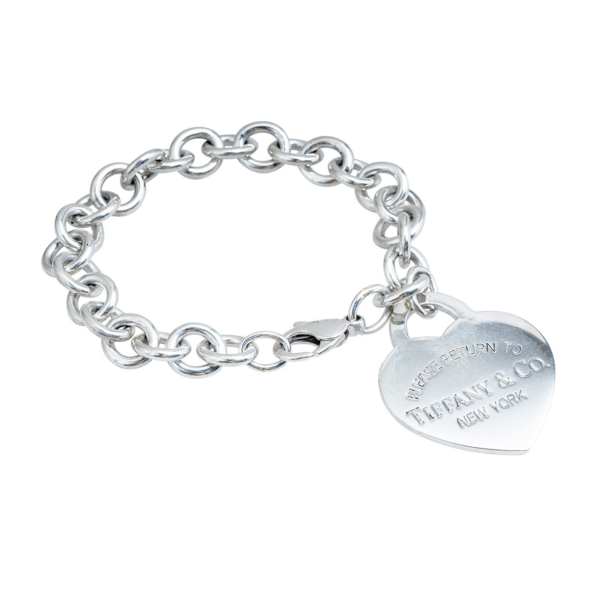 Vintage Tiffany & Co. Please Return to Tiffany Heart Tag Bracelet