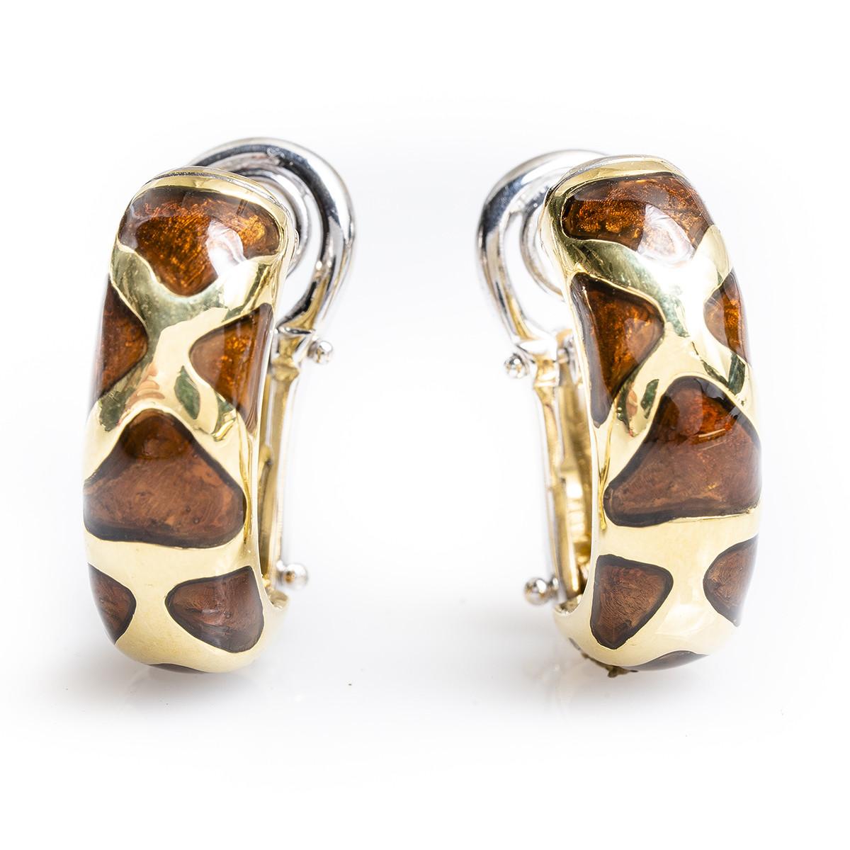 Vintage Roberto Coin Giraffe Hoop Earrings
