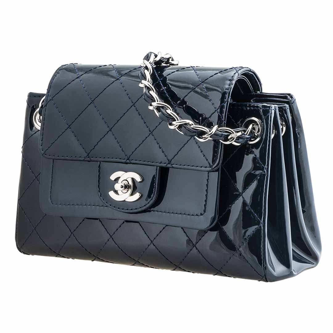Vintage Chanel Double Flap Shoulder Bag