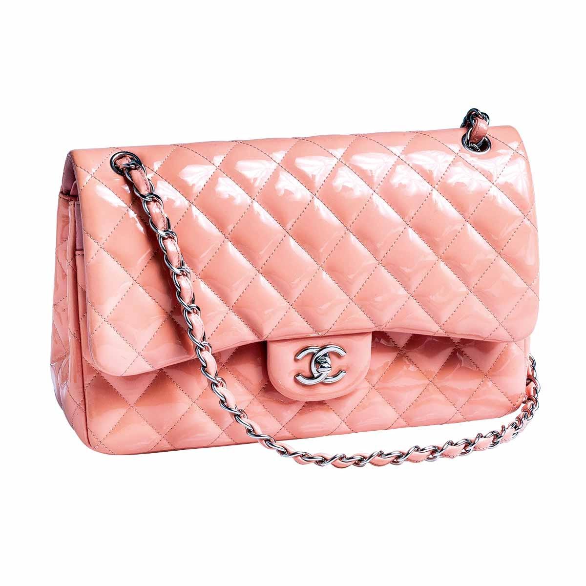 Vintage Chanel Coral Jumbo Double Flap Shoulder Bag