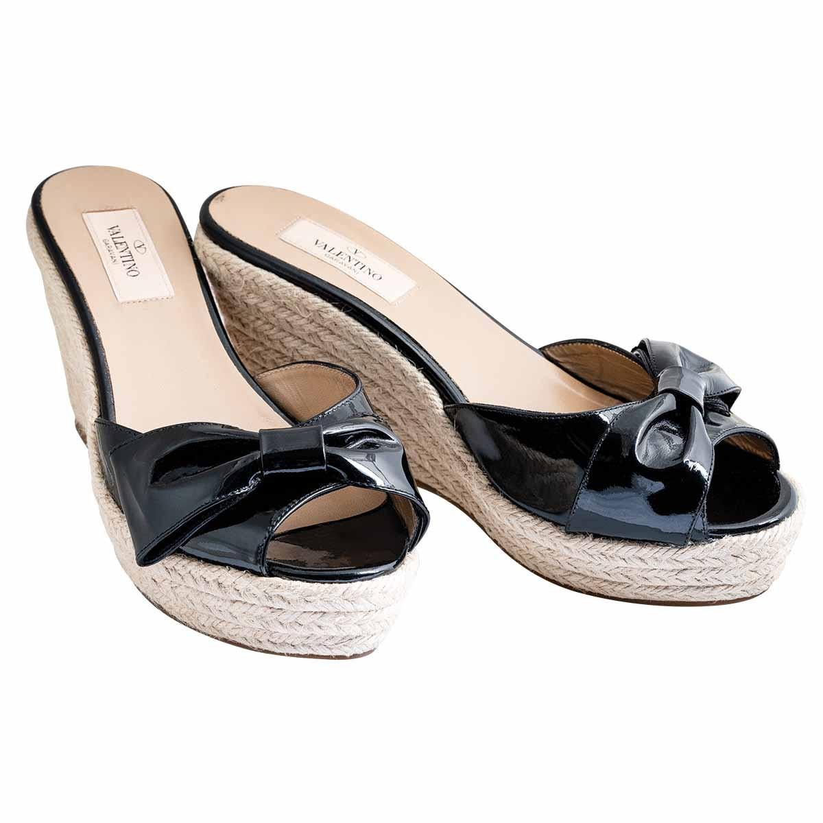 Vintage Valentino Bow Sandle Heels