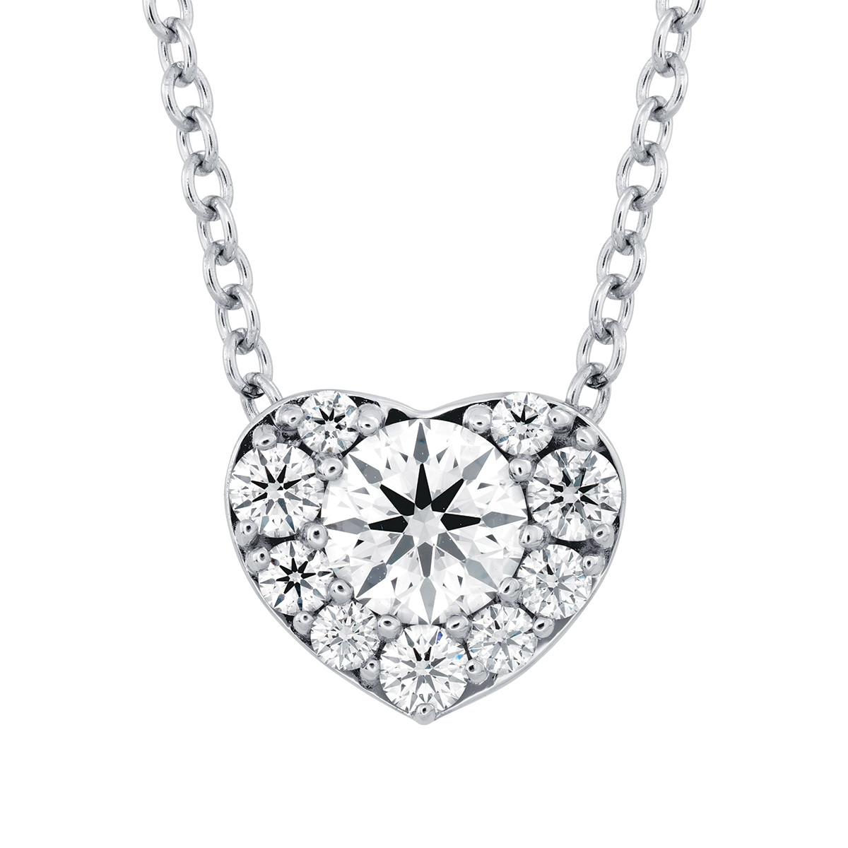 New Hearts On Fire® 0.42 CTW Diamond Fulfillment Heart Necklace