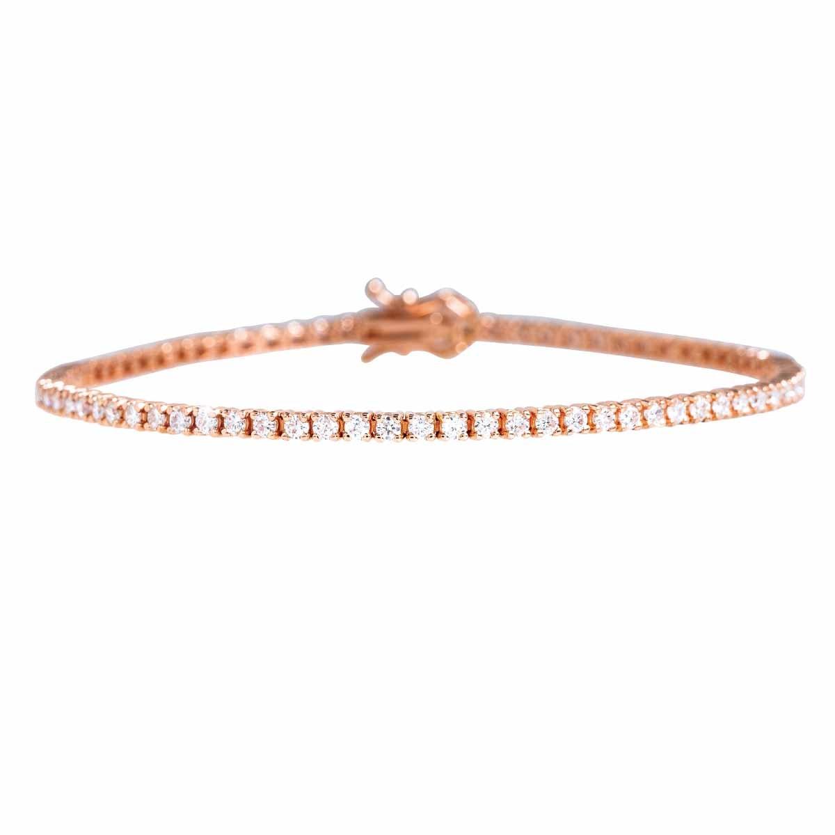 New 2.02 CTW Diamond Tennis Bracelet