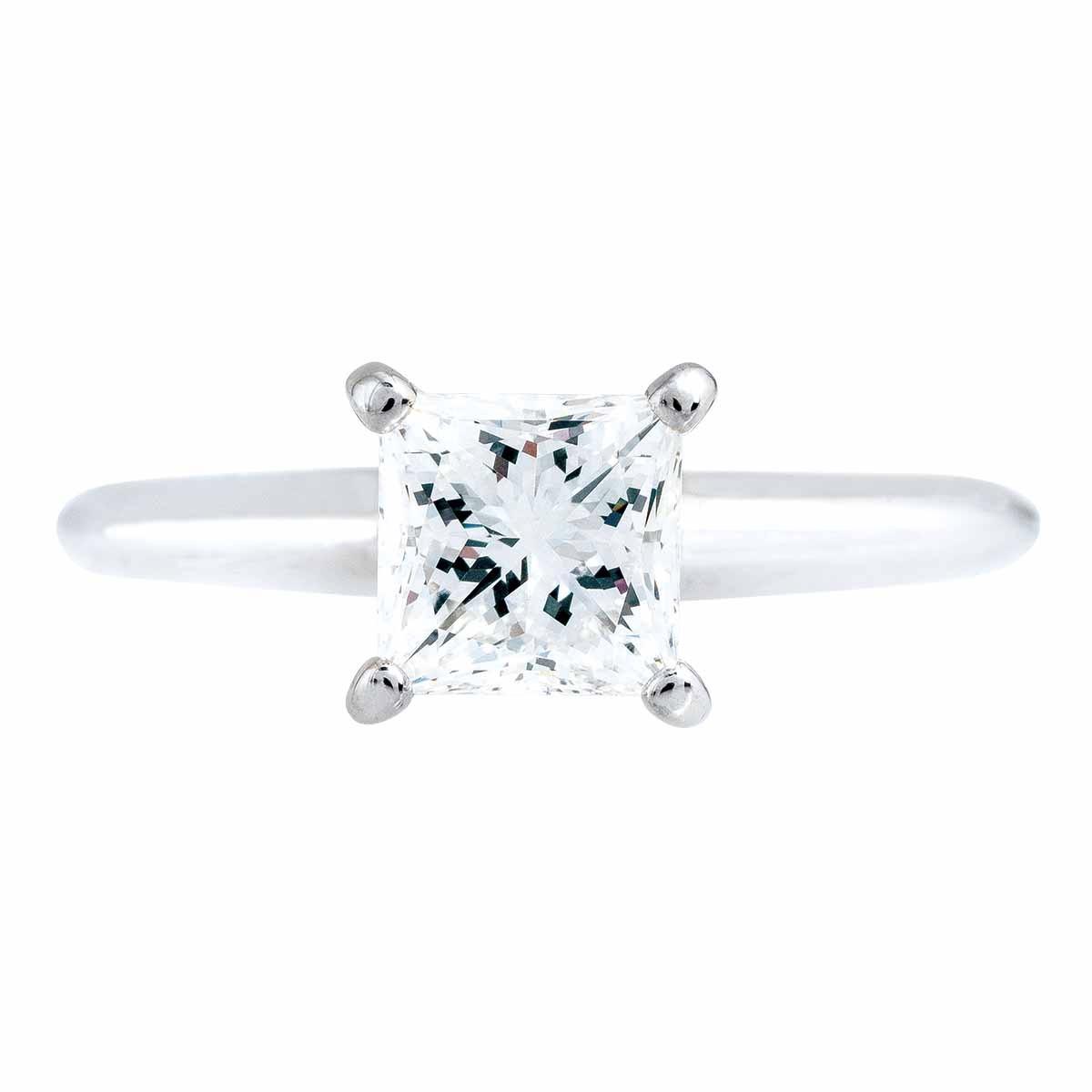 Vintage 0.97 CT Diamond Engagement Ring