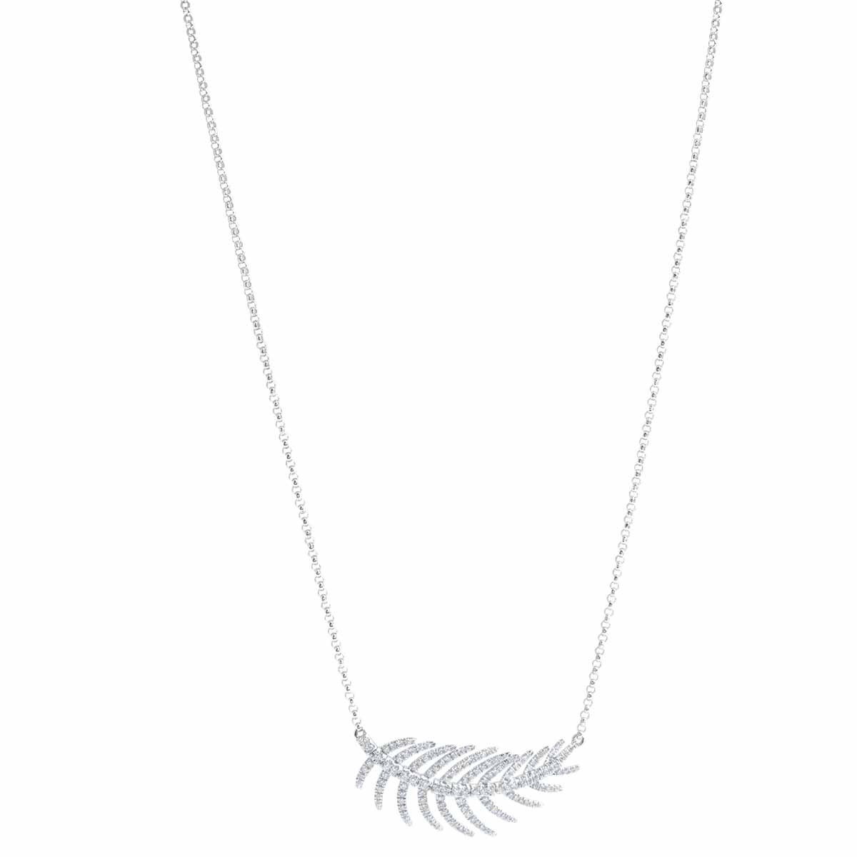New 0.60 CTW Diamond Leaf Necklace