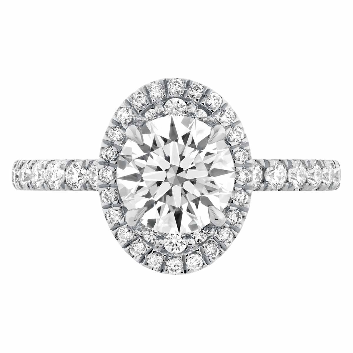 New Hearts On Fire® 0.13 CTW Diamond Juliette Halo Engagement Ring